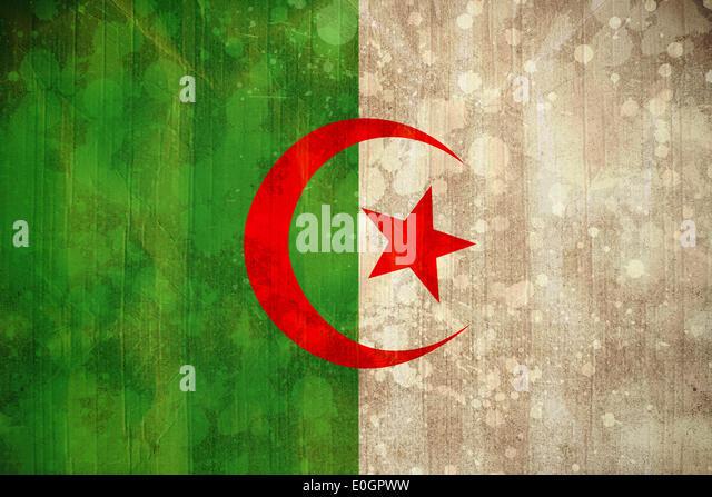 Algeria flag in grunge effect - Stock Image