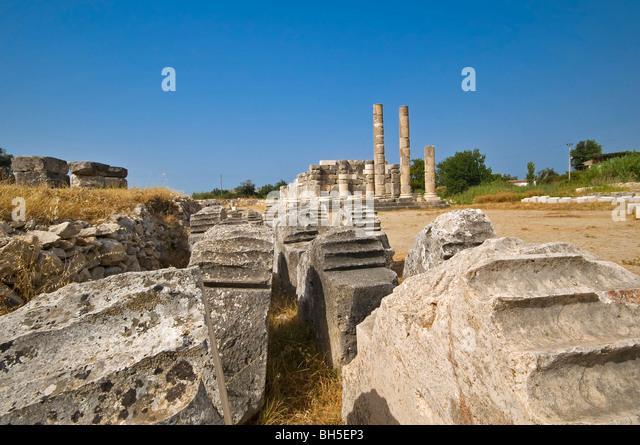 Ancient Ruins at Letoon, Turkey - Stock Image
