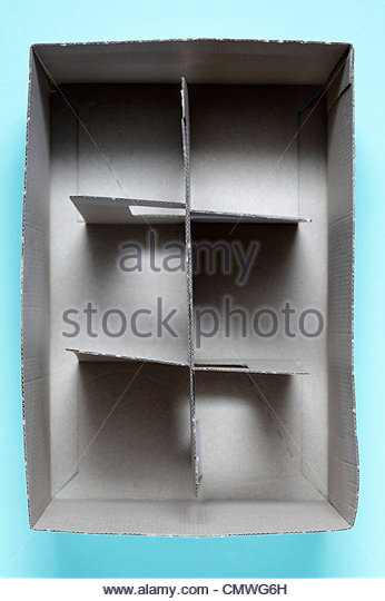 light carton type of glasses transport carry box - Stock Image