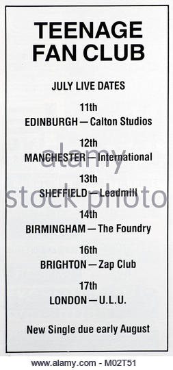 Teenage Fanclub Tour Dates