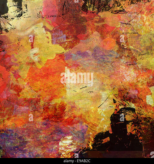 abstract artwork - mixed media grunge - Stock Image