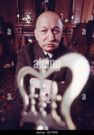 Publicist and collector Benjamin Sonnenberg, photographed in his Manhattan home in 1968. - Stock Image