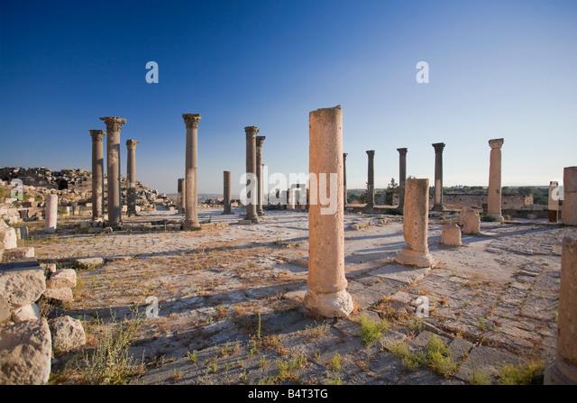 Church Terrace, Umm Qais, Jordan - Stock Image