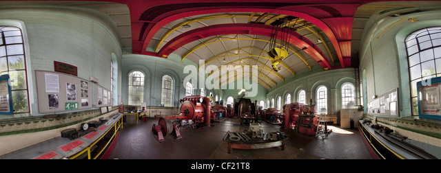 Astley Green Colliery Winding Gear Panorama Pano - Stock Image