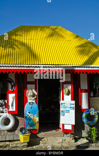 Redcliffe Quay shopping area, St Johns Antigua - Stock Image