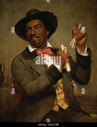 William Sidney Mount The Bone Player - Stock Image