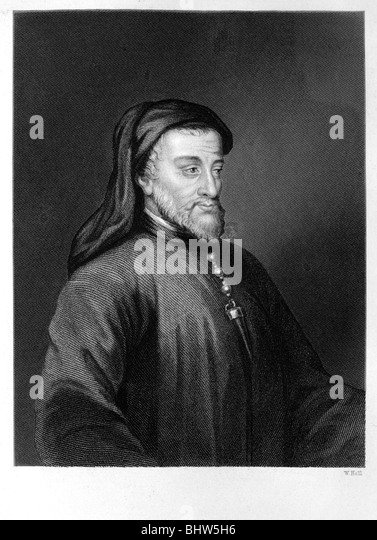 Geoffrey Chaucer - Stock Image