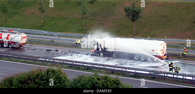 Lorry Fire Accident Stock Photos Lorry Fire Accident