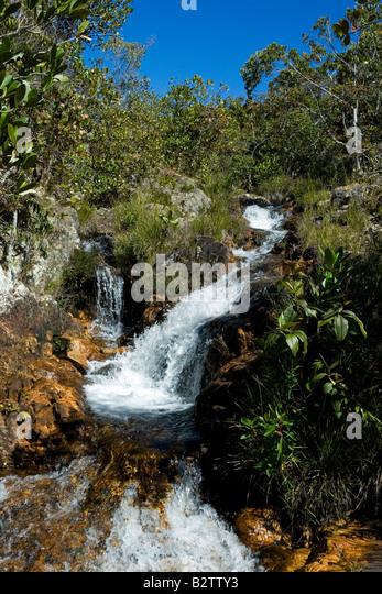 Cachoeiras, Rio Cristal, Chapada dos Veadeiros, Veadeiros Tableland, Goias, Brazil - Stock Image