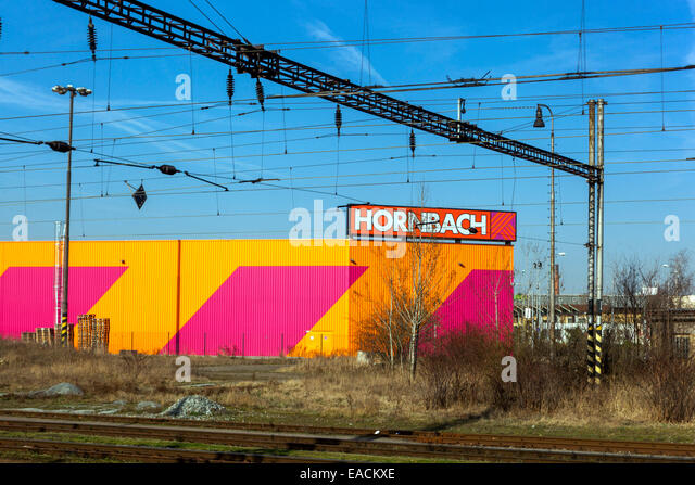 Hornbach hobbymarket, DIY store sign Plzen Czech Republic - Stock Image