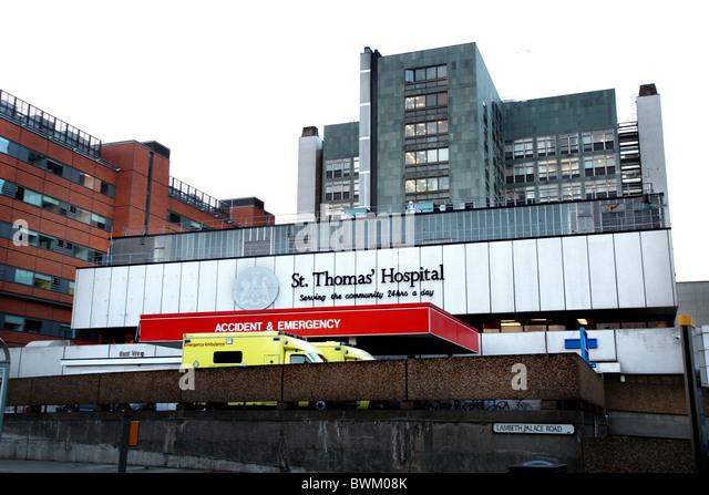 St. Thomas'  Hospital, London - Stock Image