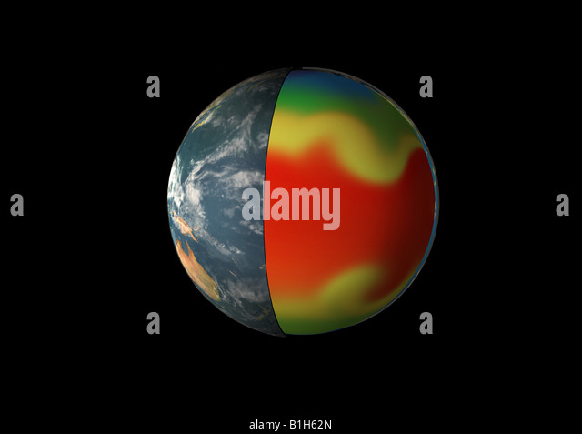 Planet affected by global warming - Stock Image
