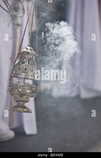 incense in the Holy Week, Spain - Stock Image