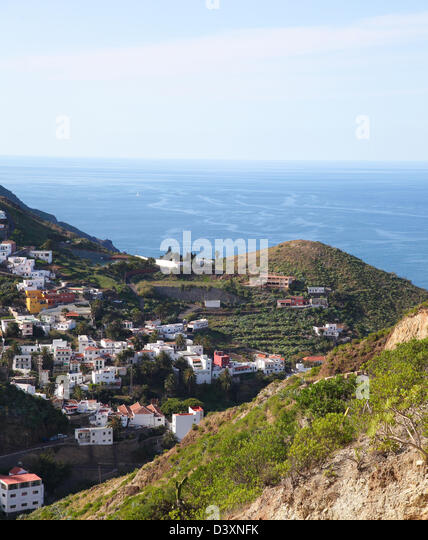 Landscape near Santa Cruz de Tenerife, in the North of Tenerife island, Canary islands, Spain - Stock Image