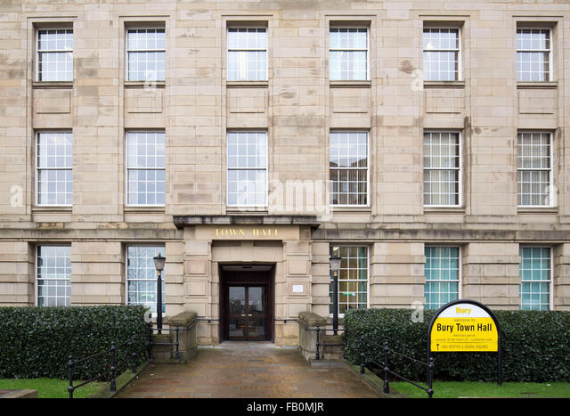 Bury Town Hall - Stock Image