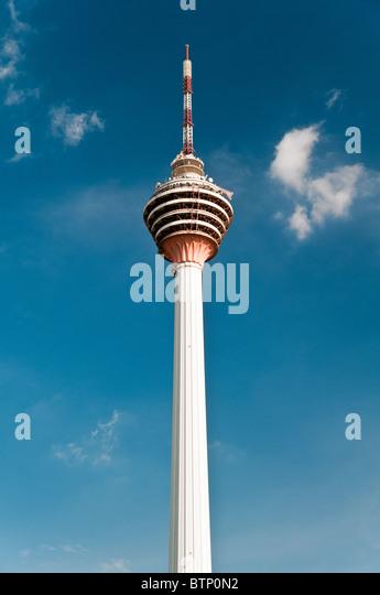 The Kuala Lumpur Tower also known as KL tower or Menara, Kuala Lumpur, Malaysia - Stock-Bilder