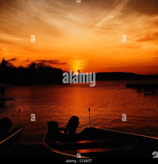 Orange Lake - Stock Image
