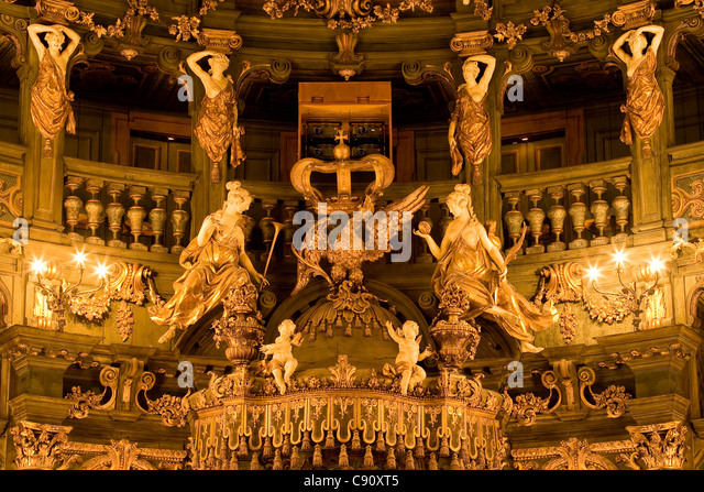 Interior view of Margrave's Opera House, a Baroque opera house, Bayreuth, Bavaria, Germany, Europe - Stock-Bilder