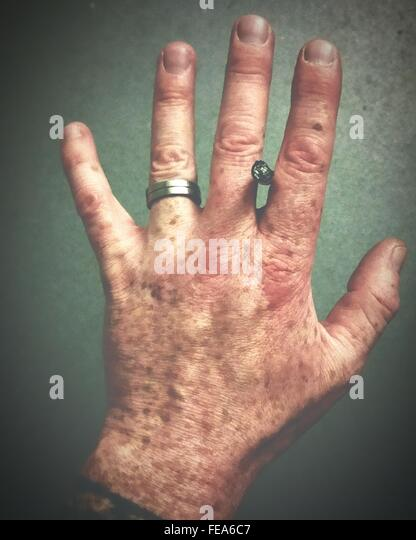 Close-Up Human Hand - Stock Image