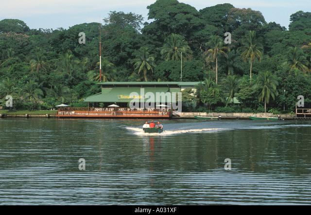 costa rica tortuguero tortuga lodge exterior tour boat - Stock Image