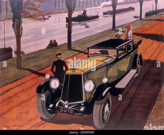 Poster advertising Armstrong Siddeley cars, 1930. Artist: Guy Sabran - Stock Image