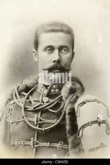 ARCHDUKE FRANZ FERDINAND, 1912. Courtesy: CSU Archives / Everett Collection - Stock Image