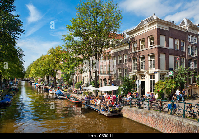 Netherlands, Amsterdam, Canal - Stock Image