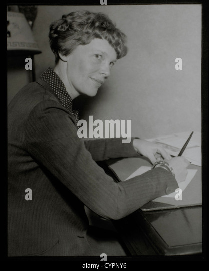 Amelia Earhart, Portrait, Circa 1930's - Stock Image