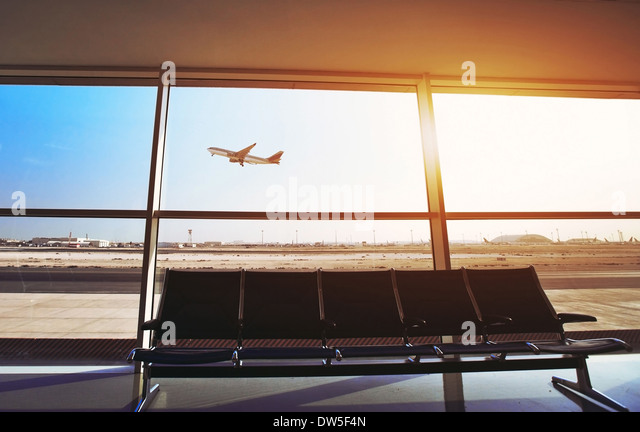 in the airport - Stock Image