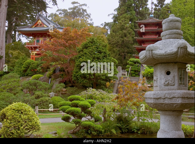 San francisco botanical garden stock photos san for Traditional japanese garden