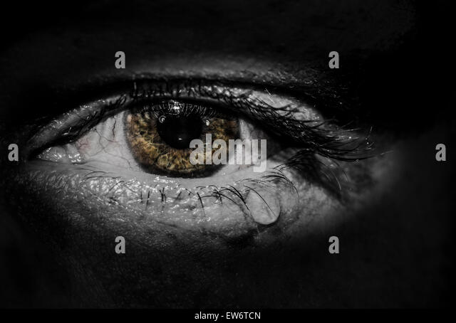 Weeping eye - Stock Image