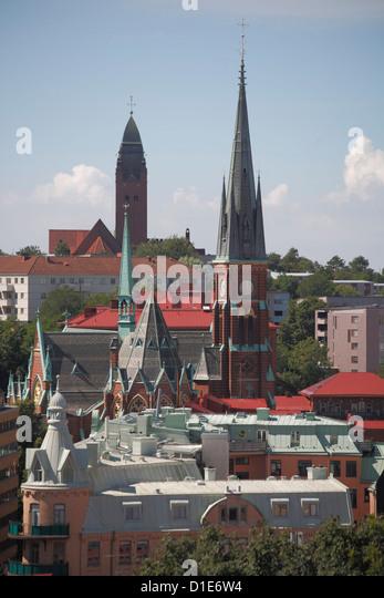 Rooftop panorama, Gothenburg, Sweden, Scandinavia, Europe - Stock Image