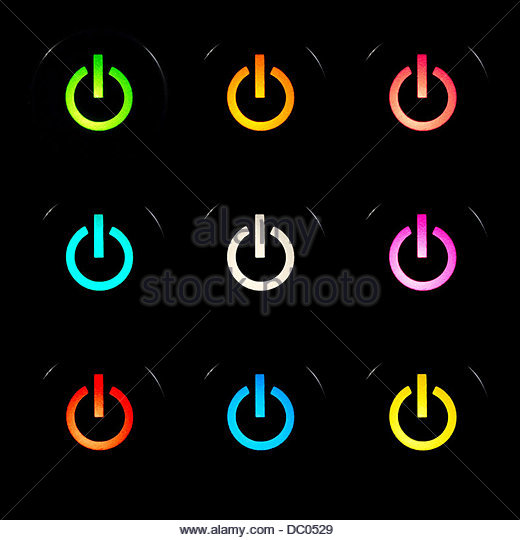 Power buttons set - Stock Image