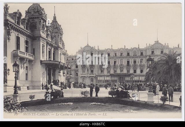 Hotel de Paris & Casino, Monte-Carlo, Monaco - Stock Image
