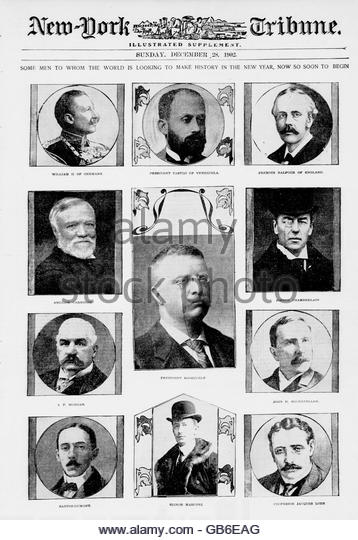 Some men to whom the world is looking to make history in the new year, now so soon to begin - Stock Image