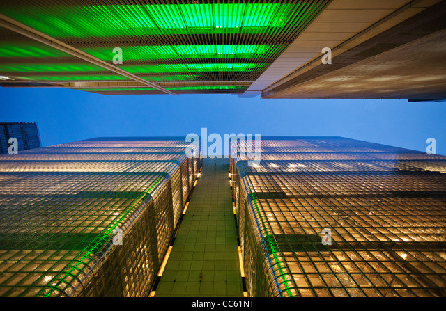 Japan, Tokyo, Ginza, Maison Hermes Store and Sony Building - Stock-Bilder