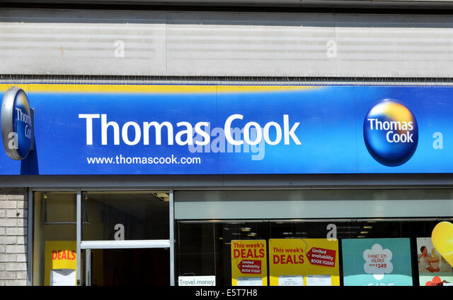 A Thomas Cook travel agency in a UK high street - Stock-Bilder