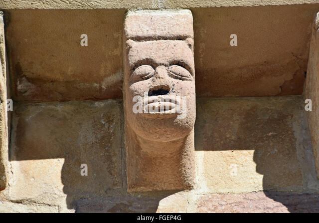corbel chapel de Eunate Navarra Spain - Stock Image