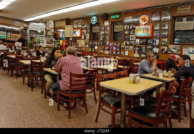 Katz´s Delicatessen, Movie location of ' When Harry met Sally ', New York, USA, - Stock Image
