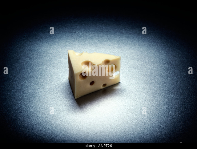 Triangle of cheese - Stock Image