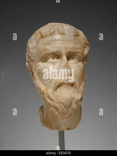 Head of a Priest or Saint; Unknown; Asia Minor; 5th century; Marble - Stock Image