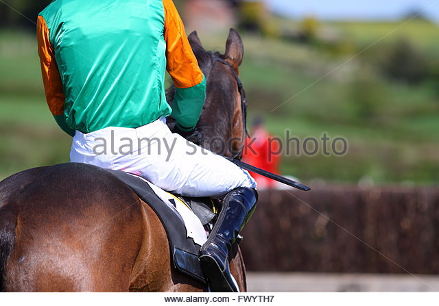 Jockey rider horse race - Stock Image