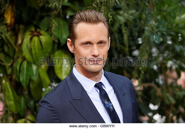 "Cast member Alexander Skarsgard poses at the premiere of the movie ""The Legend of Tarzan"" in Hollywood, - Stock Image"