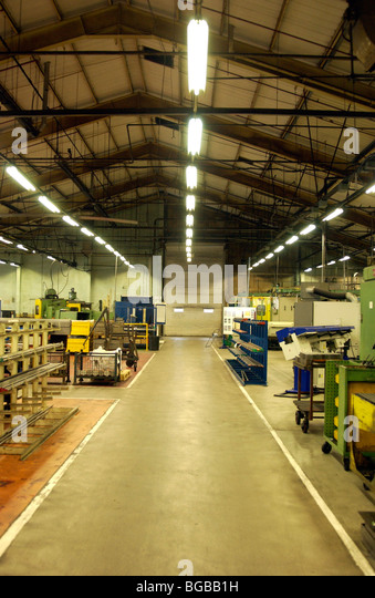 Photograph of empty closed industrial factory unit empty premises - Stock-Bilder
