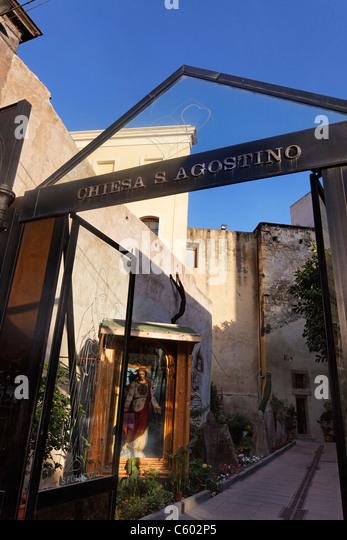 Chiesa S Agostino , Cagliari , Italy Sardinia - Stock Image