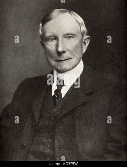 JOHN D ROCKEFELLER - US oil magnate and philanthropist in 1935 - Stock Image
