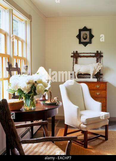 corner of living room - Stock Image