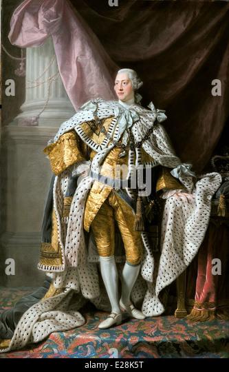 George III in Coronation Robes. George III - Stock Image