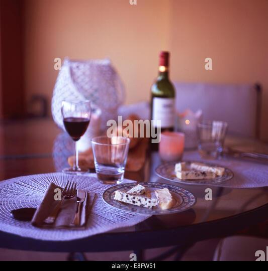 France, Eze, French Cuisine Dinner - Stock Image