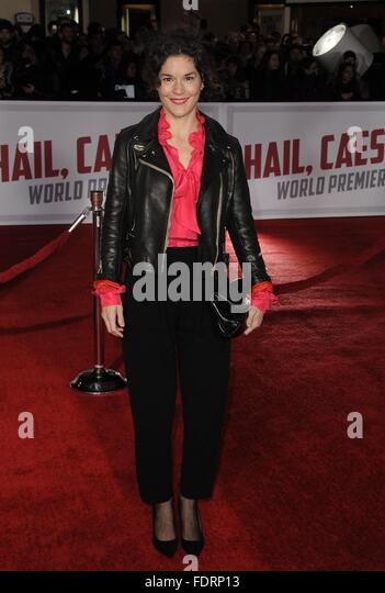 Los Angeles, CA, USA. 1st Feb, 2016. Heather Goldenhersh at arrivals for HAIL CAESAR! Premiere, Regency Westwood - Stock Image